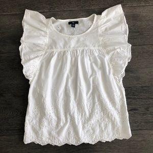 Gap white summery woman's blouse